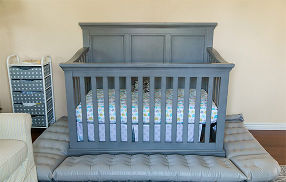 grey crib with dreamcatcher crib bumper inflatable